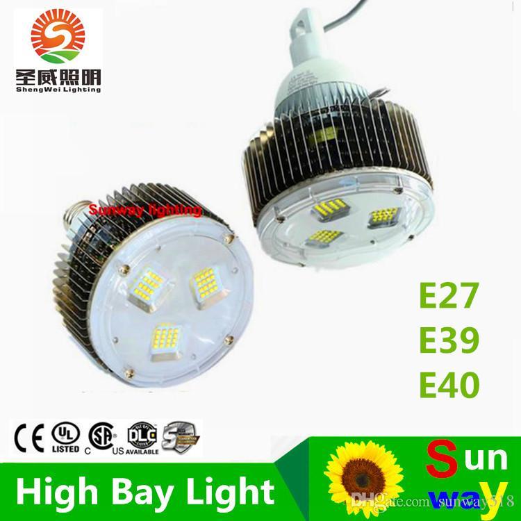 4pcs 50W 100W 120W 150W 200W 250W 300W 400W LED 높은 베이 램프, E40 120W LED 높은 베이 빛, LED 산업 램프 전구