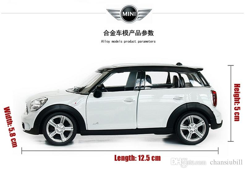 Mini Cooper Models >> 2019 1 36 Scale Diecast Alloy Metal Car Model For Mini Cooper S Countryman Collection Model Pull Back Toys Car Red White Black Blue From Chansiubill