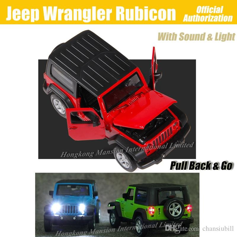 1:32 Scale Luxury Diecast Alloy Metal Car Model For Jeep Wrangler Rubicon Collection Off-road Vehicle Model Toys Car