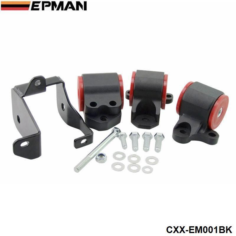Motor Mounts Conversion Swap Kit For Honda Civci 96-2000 D16 B16 D15 D16 D-Series/B-Series Engine CXX-EM001BK