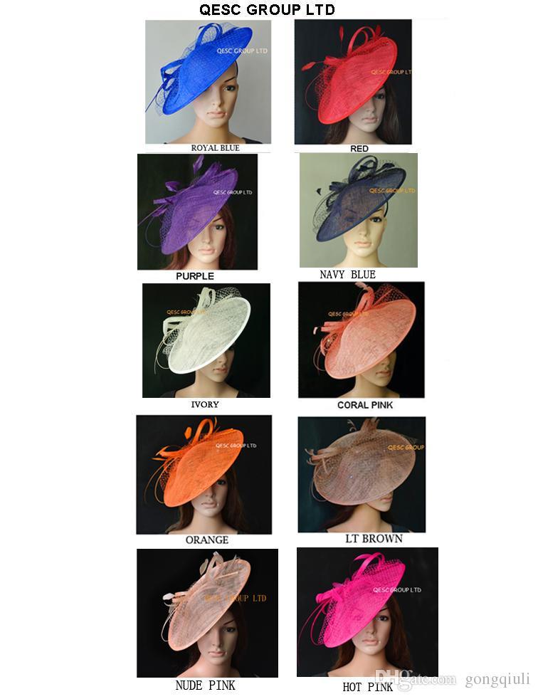 Nuovo colore multicolore Grande Sinamay fascinator cappello kentucky derby, festa di nozze. TRASPORTO LIBERO DALLO SME.
