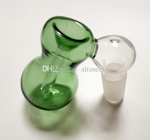 미니 유리 애쉬 포수 그릇 유리 Ashcatcher 어댑터 14mm 18mm 남성 두꺼운 유리 그릇 애쉬 포 수 버블 러 유리 봉 수 파이프