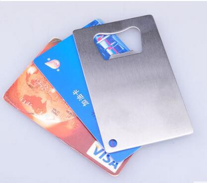 Wallet Bottle Opener Stainless Steel Credit Card Size Openers can open Jar Cans