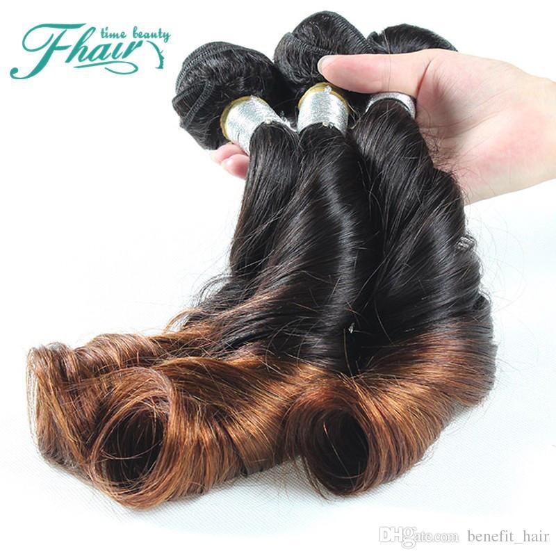 أومبير الشعر 7a الصف البرازيلي عمتي فونمي الشعر 3 قطعة / الوحدة 1b / 4 البرازيلي نطاط مجعد نسج غير المجهزة الإنسان الشعر
