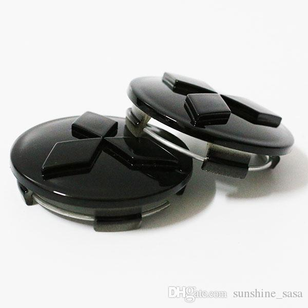 100 stücke DHL EMS schwarz splitter Rad Abdeckungen Center Radkappen für Mitsubishi Grandis Fortls ASX Colt Outlander Lancer Radmitte Radkappen / 60 MM