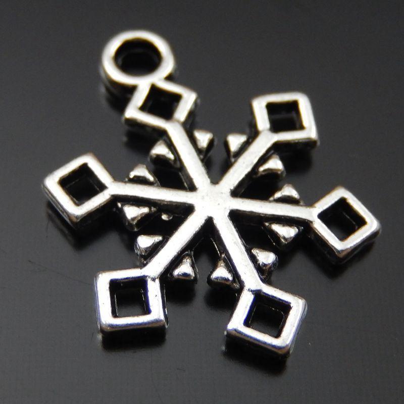 Monili d'argento antichi di fascino del pendente della lega del fiocco di neve 30pcs che fanno 16 * 1 * 20mm fabbricazione di monili 39720