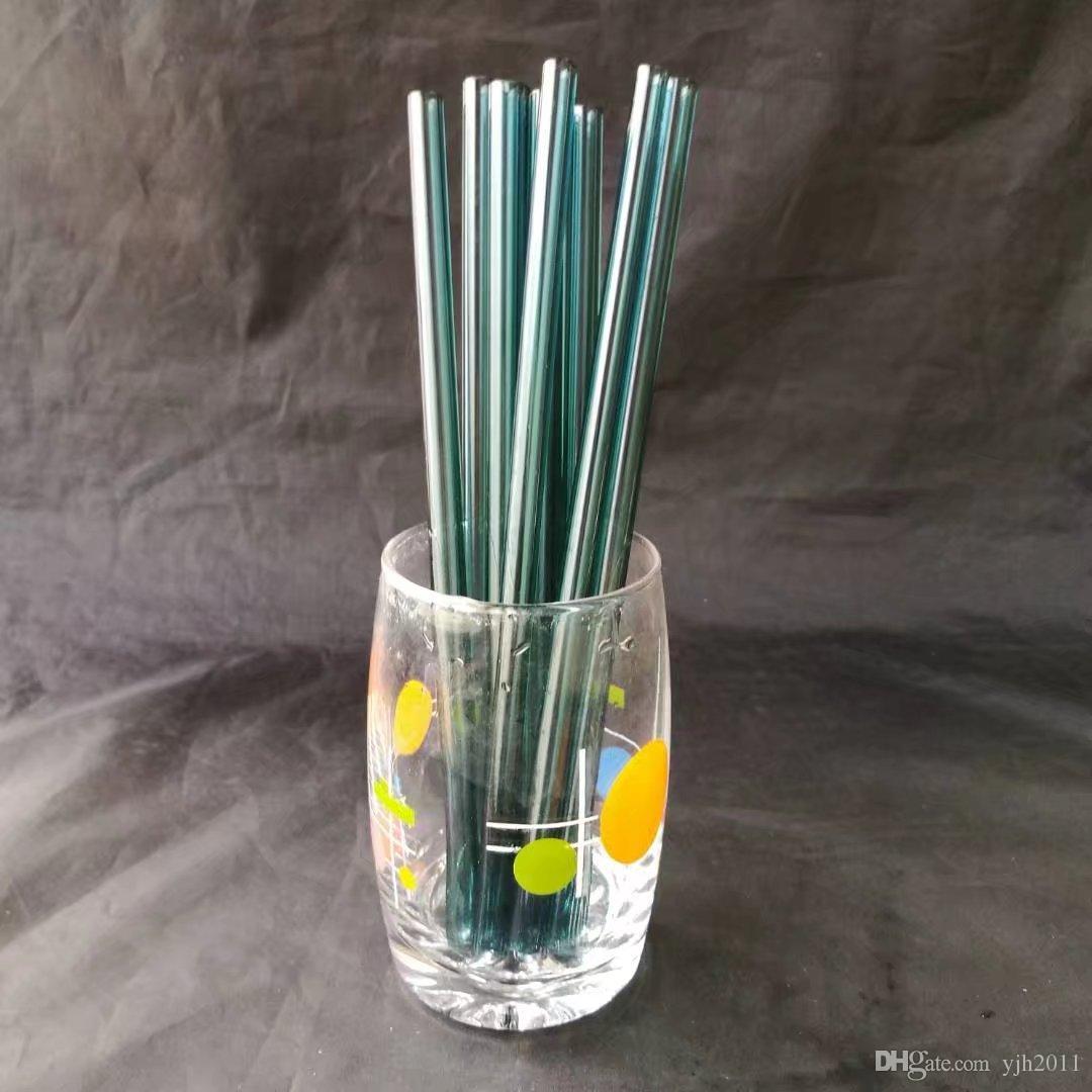 Paglia color puro, bong in vetro all'ingrosso, narghilè in vetro, accessori per tubi fumo