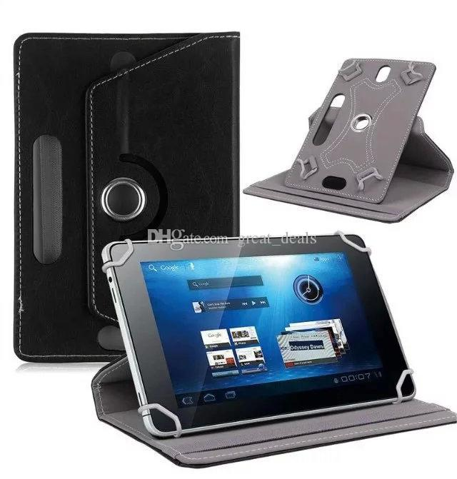 Universal 7 10.1 inch Tablet PC Case 360 Degree Rotating Case PU Leather Stand Cover 7 inch Folding Folio Case by DHL