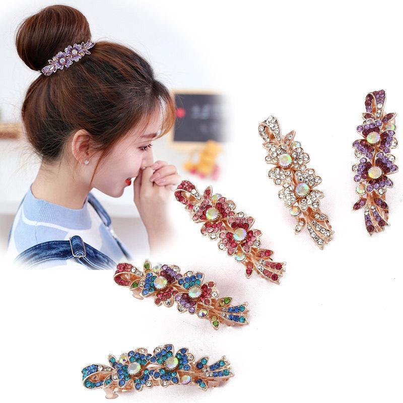 النسخة الكورية من المرأة الأزياء والمجوهرات الصغيرة الماس أعلى الربيع كوليت عرضية مقطع الشعر الساخن باريت