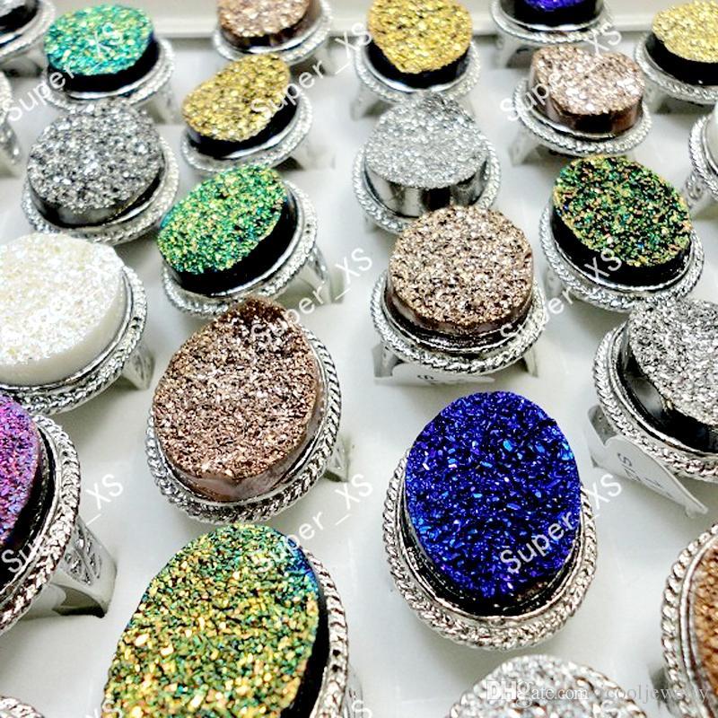 Art und Weise al por Bürgermeister Glitter Stone Silber überzogene Ringe für Frauen Wholesale Schmucksachen verlost freies Verschiffen LR163