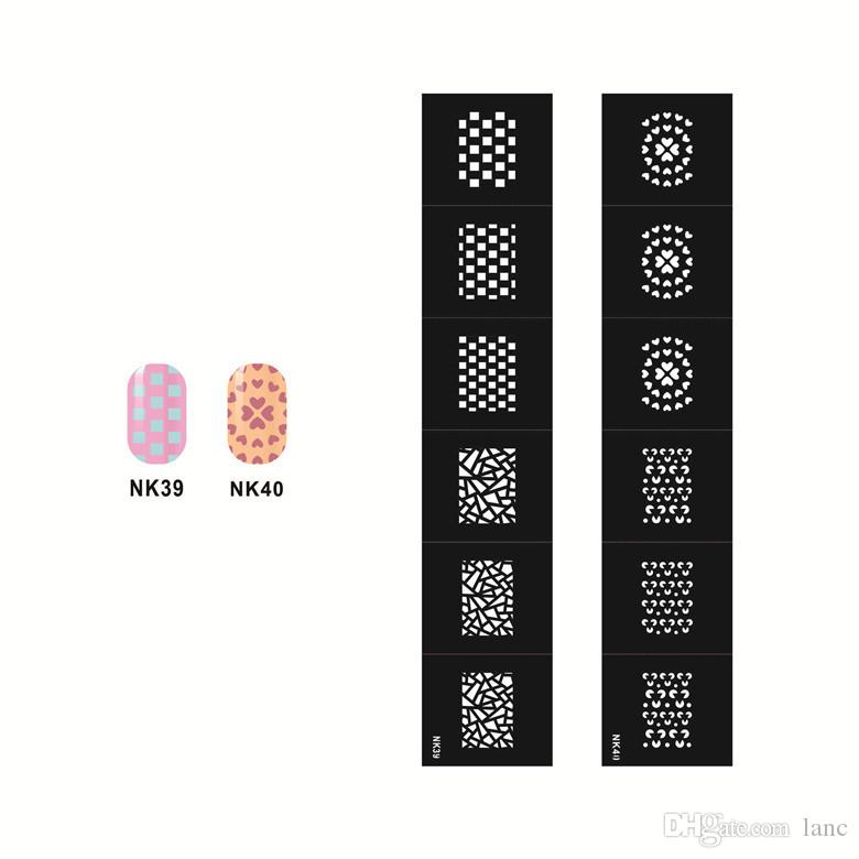 Stamping Nail Art Hollow Templates Airbrush Stencils Stickers ...
