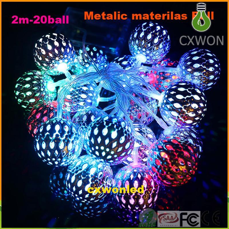 بطارية تعمل أضواء الديكور RGB الدافئة الأبيض الذهبي الفضة الكرة بقيادة سلسلة الأنوار 2M لغرفة النوم حديقة عرس عيد الميلاد عطلة ضوء