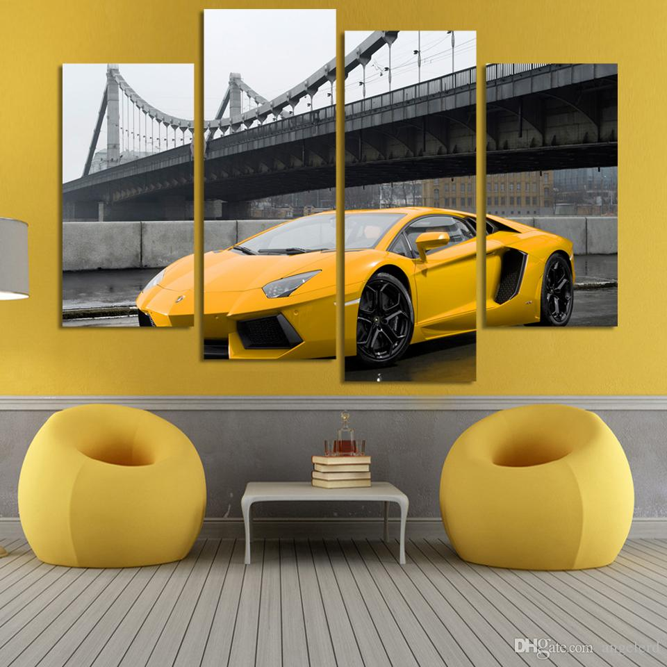 Online Cheap Fashion Sport Car Painting Home Decoration For Living ...