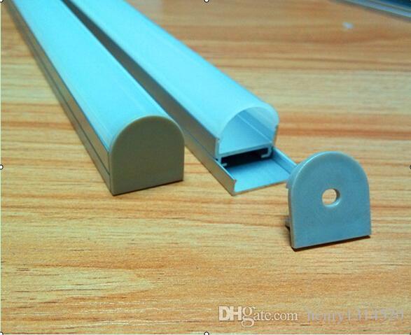 Canal LED de aluminio de envío gratuito de venta caliente con lente en forma de cúpula para luz colgante Celling, compatible con ancho de tira de 17 mm