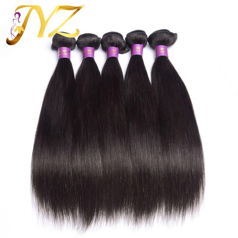 أعلى جودة الشعر البرازيلي 100 ٪ الشعر البشري النقي اللون الطبيعي مستقيم التمديد رخيصة غير المجهزة الشعر 4 حزم / الكثير الجودة