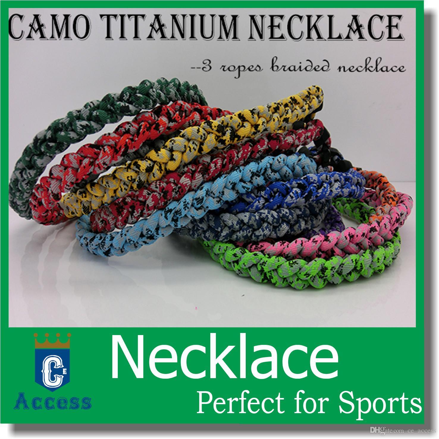 2017 Camo sports necklace titanium sports necklace tonado necklace