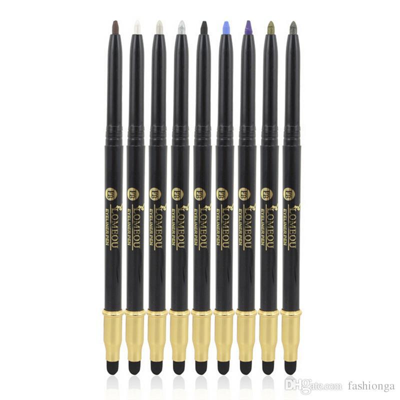 Neue 14 Farben Lidschatten / Eyeliner Pen Wih Brush Highlights / Natürliche langlebige wasserdichte Eyeliner