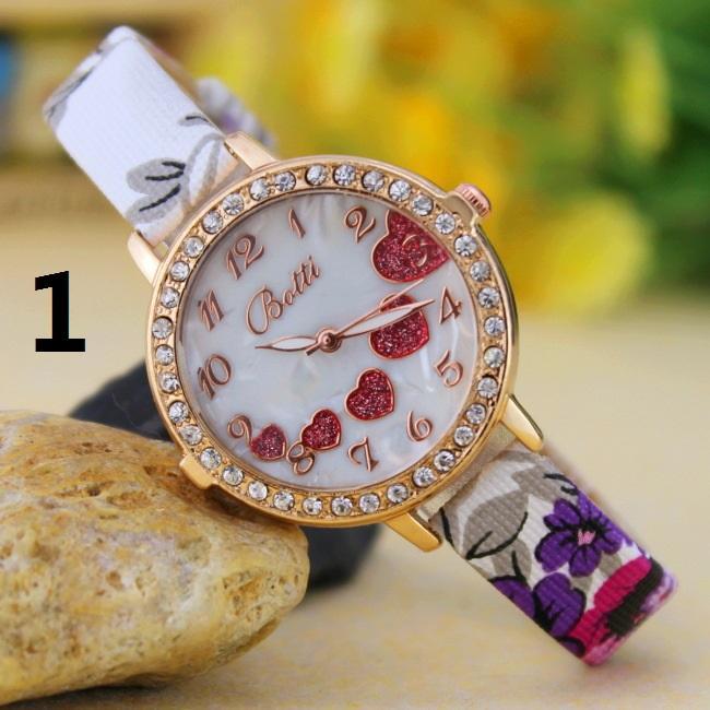 Hot New Wholesale Love-shaped diamond ladies woman girl quartz watch thin belt fashion watches Fashion Women Watch