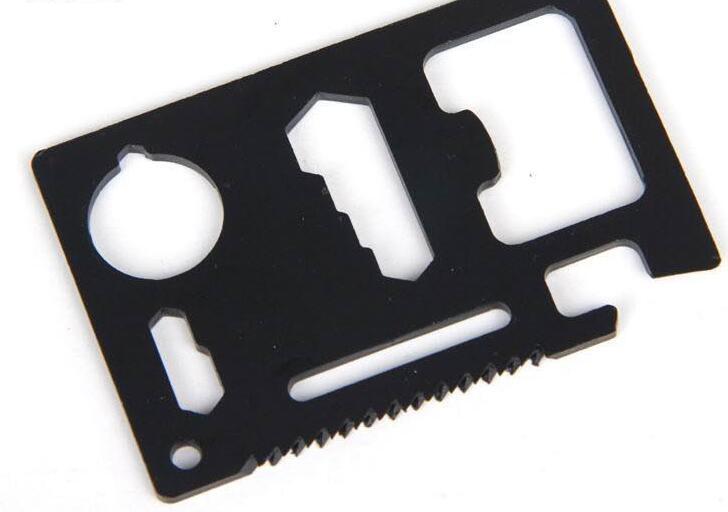 Outils à main Mini-Carte Couteau à couteau en acier inoxydable multifonction portable pour le camping de survie en plein air