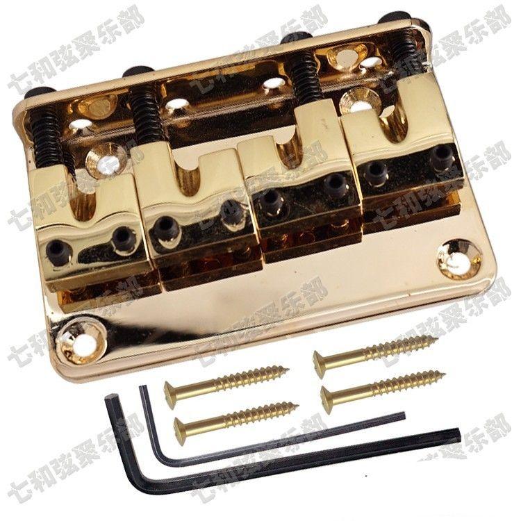 golden 4 corde basso Bridge corde per chitarra Bridge parti di chitarra Accessori per strumenti musicali