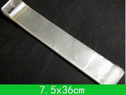 Foro appeso poli sacchetti (7,5x36 cm) con sacchetto di opp di sigillo autoadesivo / poli per ingrosso 200pcs / lot