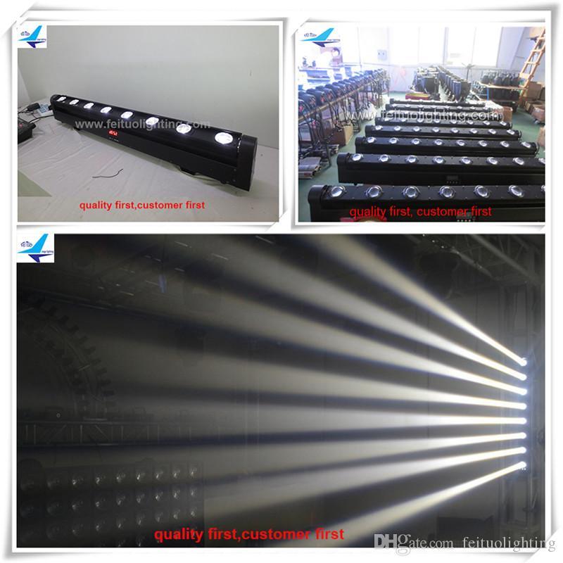 4 / lotto 8x10w White LED moving beam strip / sistema di illuminazione professionale per palcoscenico professionale DJ per discoteca in movimento