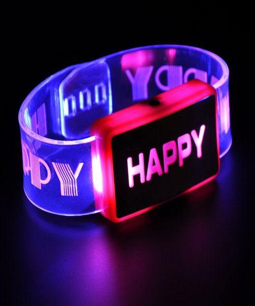 New LED Toys Glow Bracelets Flash Watches Toy Children Flashing Glowing Light Up Decorations Kids Fashion Bangles
