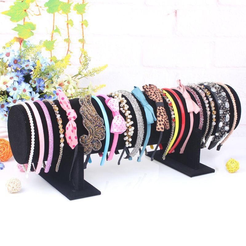 long bracelet jewelry display shelf hair hoop hairpin wearing jewelry holder headband rack hair jewelry accessory stand
