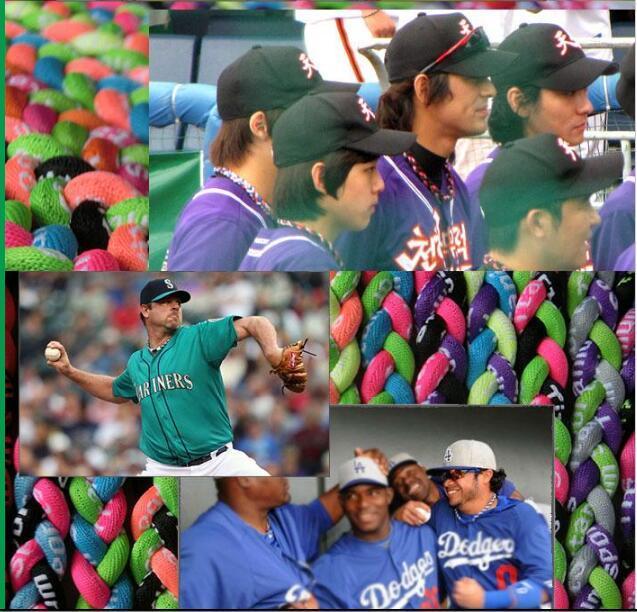 "NOUVEAU Baseball Titane TORNADO Sports Colliers 20/"" gris bleu clair rose 3 Corde"
