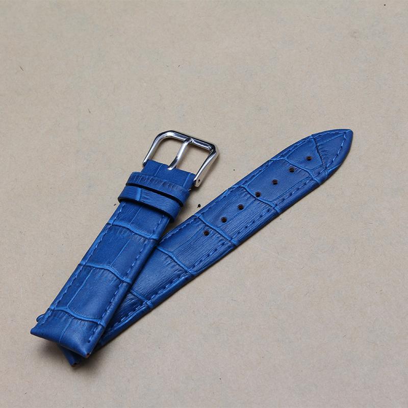 12 mm 14 mm 16 mm 18 mm 20 mm correas de reloj azul marino cuero de vaca reloj accesorios para hombres de la marca relojes de moda promoción