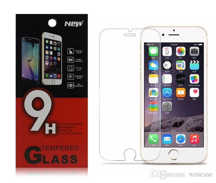 آيفون 6 6 ثانية زائد 6 + 4.7 5.5 بوصة 5 5 ثانية 5c 4 4 ثانية الزجاج المقسى قسط فيلم واقية حامي الشاشة واقية مع التجزئة حزمة