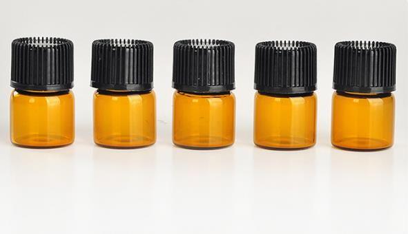 الشحن مجانا 1ML زجاجة عطر العنبر ميني الزجاج ، 1CC العنبر عينة فيال ، زجاجة زيت أساسي صغير سعر المصنع N708