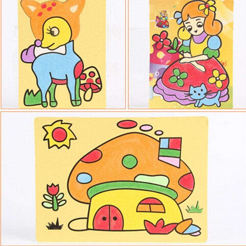 small color sand painting drawing pictures kids cartoon puzzle diy learning education classic toys for - Small Drawings For Kids