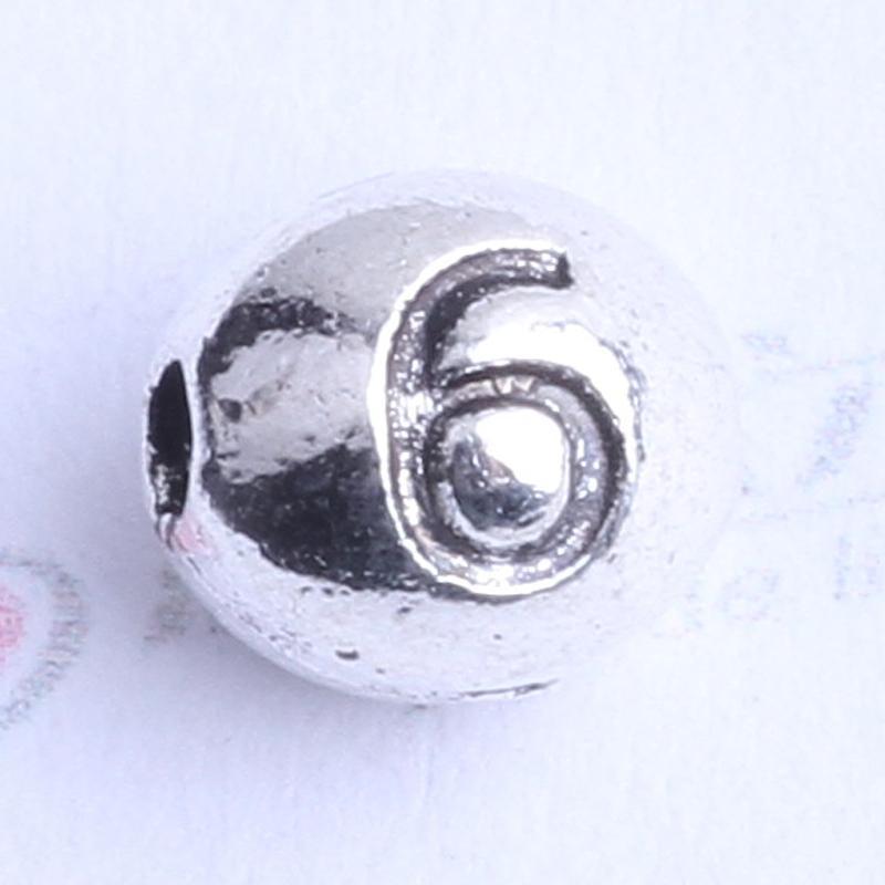 Número 6 perlas ovaladas encanto antiguo de plata / bronce aleación de zinc para DIY colgante de joyería que hace accesorios 100 unids 2444