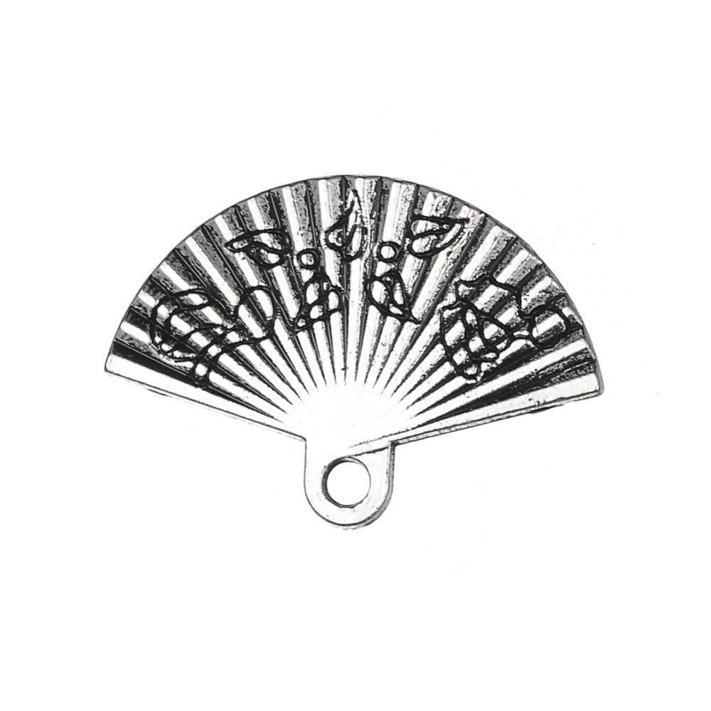 Antique-Silver-Tone-Hand-Fan-Floating-Charms-Pendants-in-Wholesale-Charms-Alloy-Metal-Jewelry-20pcs-lot