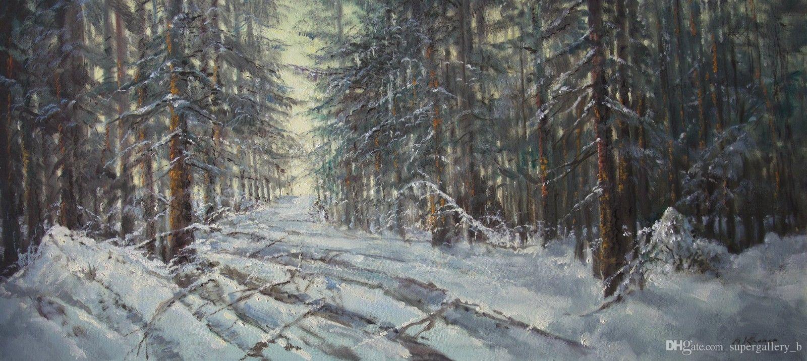 Acheter Winter In Forest Peinture Par Mark Kremer B 1928 Pure Peinture A Lhuile Russe Peint A La Main De Haute Qualite Canvas Taille Peut Personnalise De 17 92 Du Supergallery B Dhgate Com