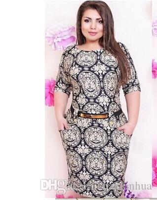 Summer Party Dresses Straight Plus Size Dresses For Women Printed Short  Sleeve Knee High Cotton L 6XL Cute White Dresses For Summer Lace Summer ...