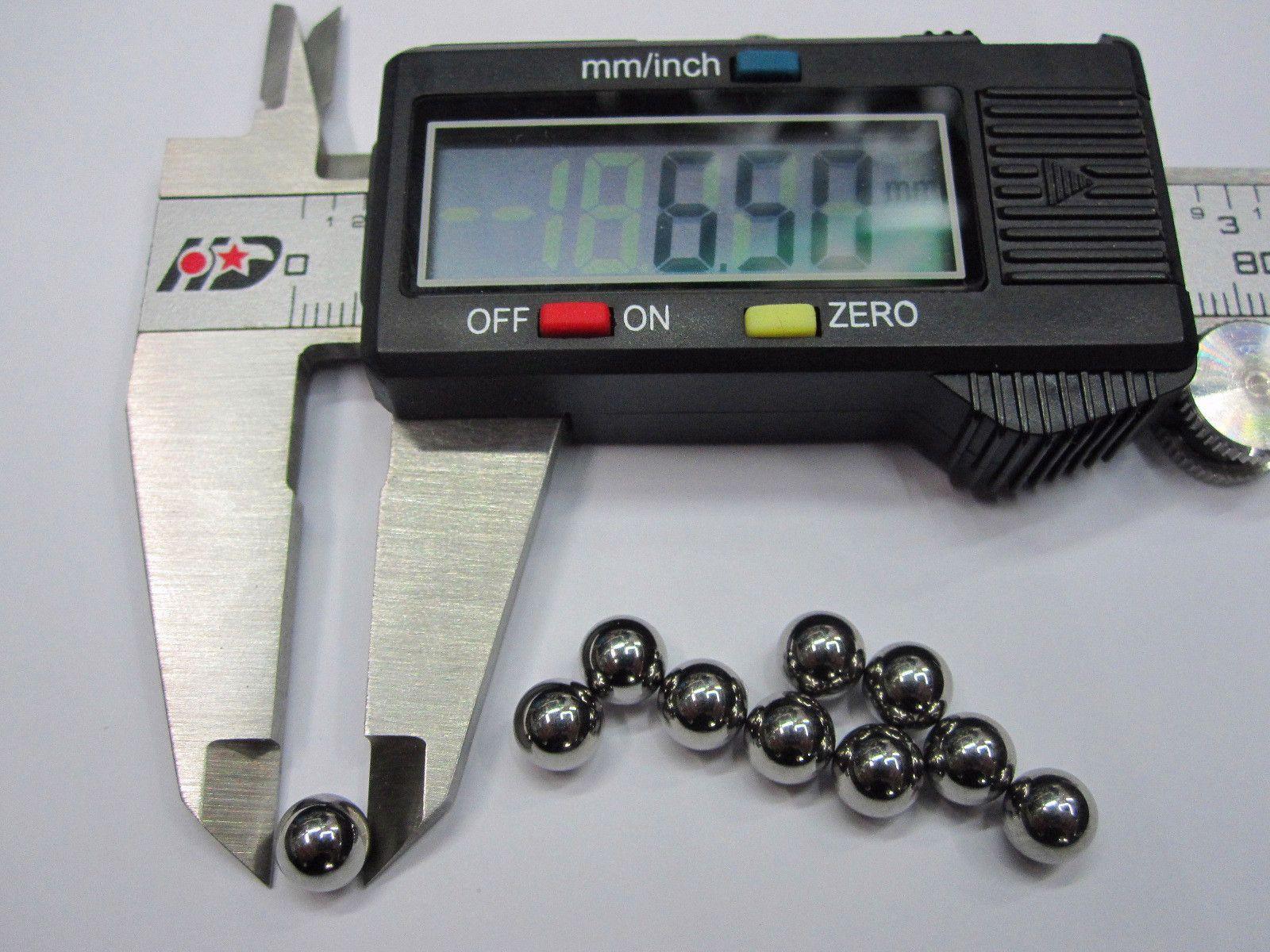 Diámetro de la bola de acero de la bola del cojinete de bolas de acero cromado de 6,5 mm 6.5 mm 10pcs / set Precisión: G10-Grade