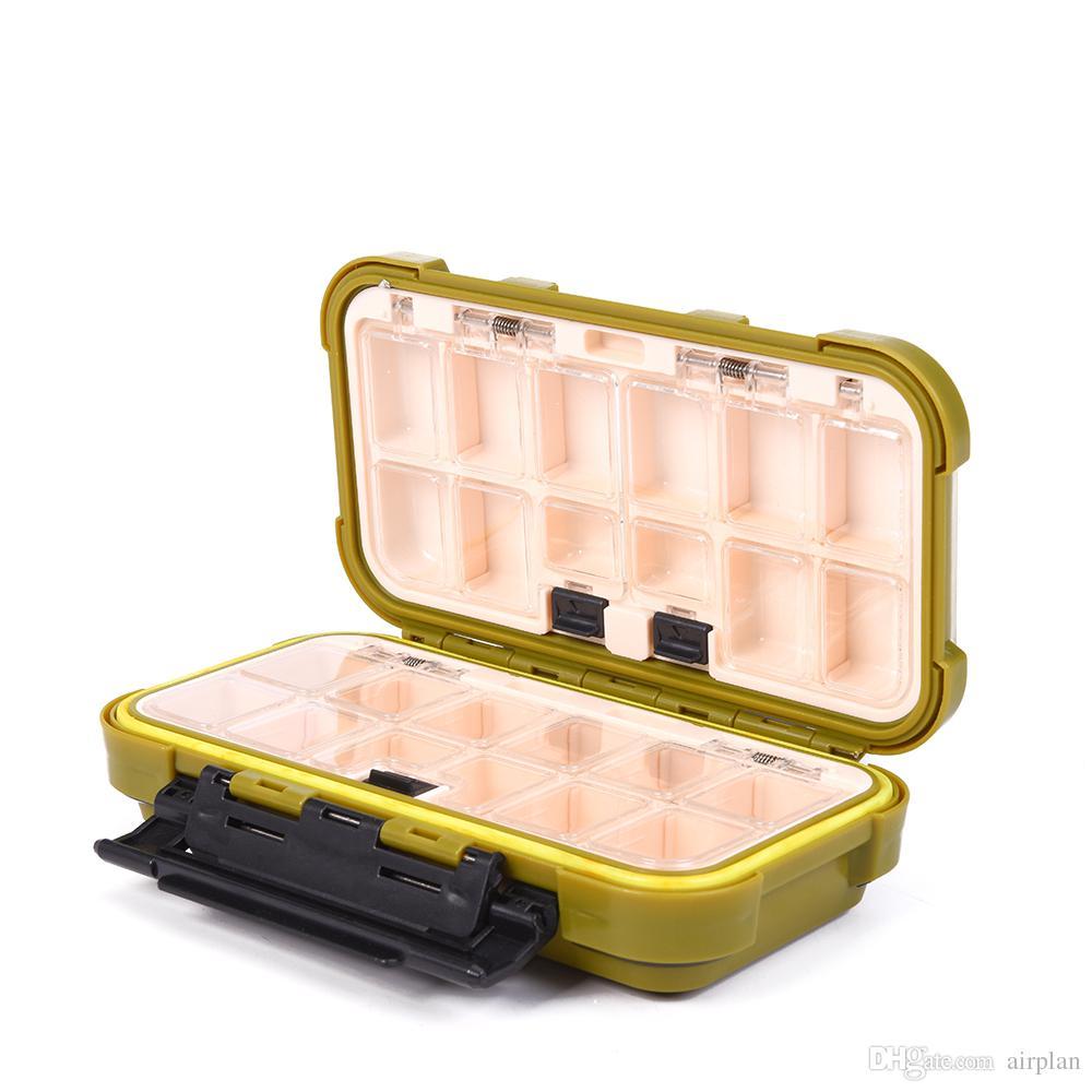 Durable plástico de la pesca caja para los cebos o las platinas señuelo Pesca aparejos de pesca Accesorios de pesca con mosca Box / Bajo / Carp 2 colores
