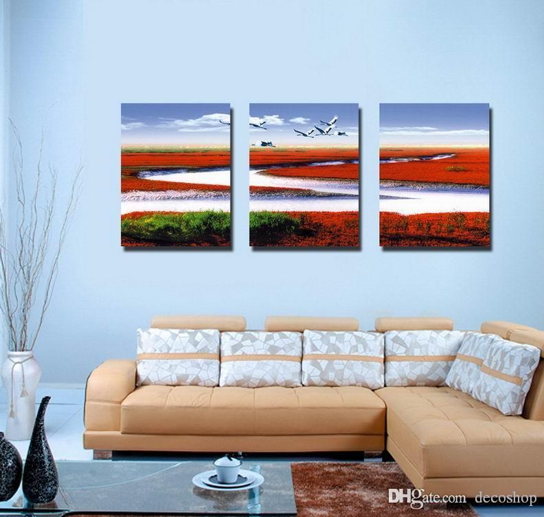 현대 아름 다운 풍경 자연 그림 Giclee 인쇄 캔버스 홈 장식 벽 예술 Set30302