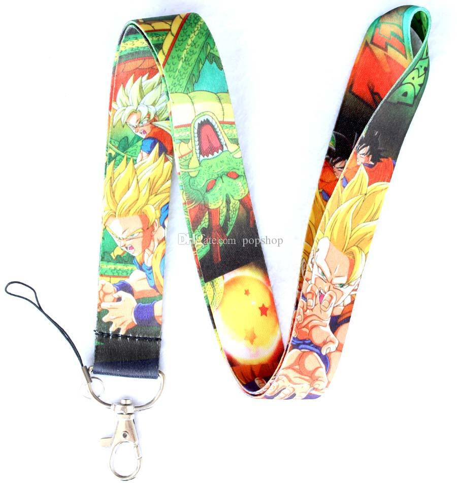 NEW Lots of 50pcs New Design Style Dragon Ball Fashion phone mp3/4 bags Neck Straps Lanyard phone lanyard FREE SHIPPING