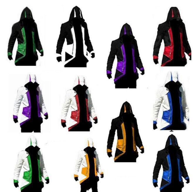 Assassins Creed 3 III Conner Kenway Hoodie Coat Jacket Assassin's Creed Assassin's Costume Connor Cosplay Overcoat