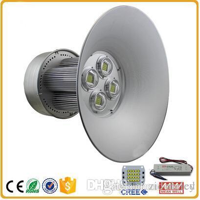 La haute baie de LED 100W 150W 200W industrielle LED allume AC85-265V conduit l'atelier industriel d'entrepôt allume 120 l'appareil d'éclairage d'angle de faisceau