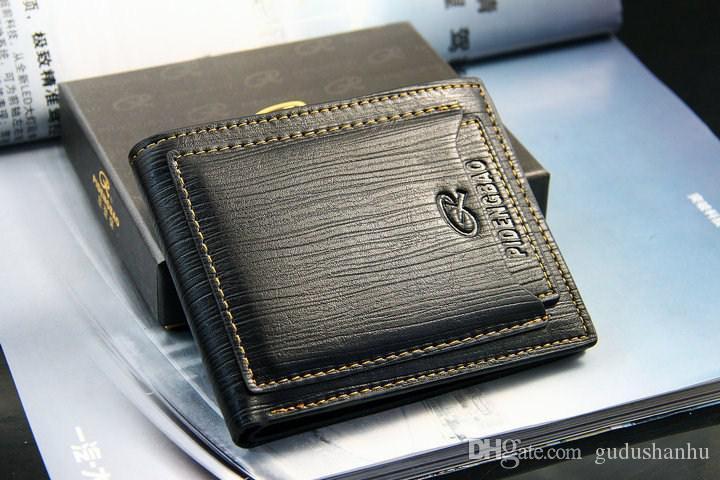Экспорт Новый стиль мужской бренд дизайнер кожа роскошный кошелек кошелек короткий крест высокое качество кошельки для мужчин бесплатная доставка 76