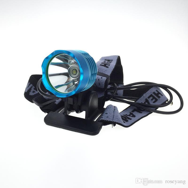 [2 батареи в комплекте] синий цвет 2000 люмен C-XML T6 LED велосипед свет фары, водонепроницаемый 3 режима светодиодный фонарик велосипедов свет