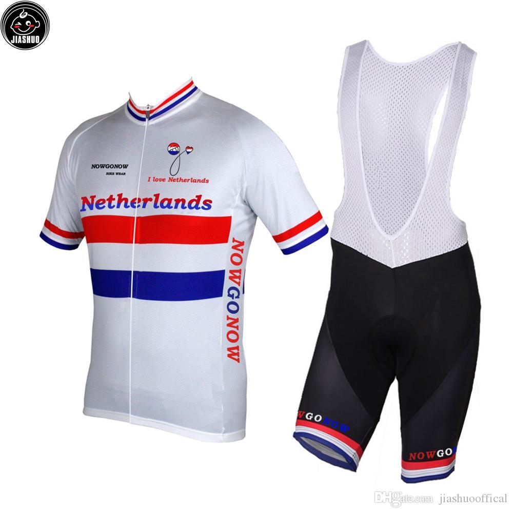 NUEVO Netherlands mtb road RACE Team Bike Pro Jersey Ciclismo Establece Culotte corto Breathing Air JIASHUO Multi Chooses