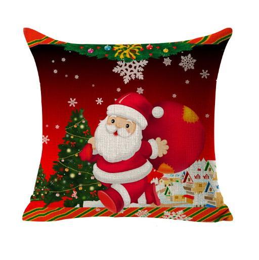 Weihnachten Sofa Kissenbezug Dekoration Platz Pillowcase Printed-Verzierung Geschenk Wohnkultur Leinen Abdeckung Dekokissen Fall dekoratives Auto