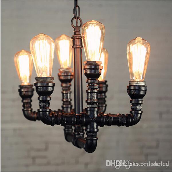 Loft Art Wasserpfeife LED Pendelleuchte Vintage Kronleuchter Stile Industrie Industrie Anhänger Leuchte Bar Kaffeehaus Dekoration