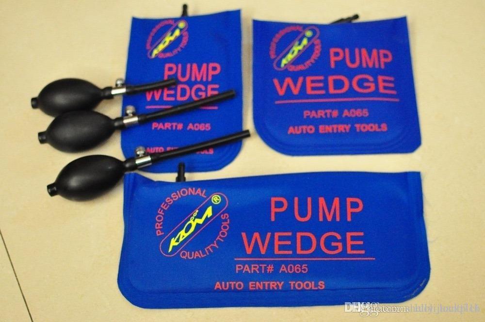 100% Original KLOM Azul S / M / L bomba de Ar set cunha air bag inflável porta do carro desbloquear ferramenta