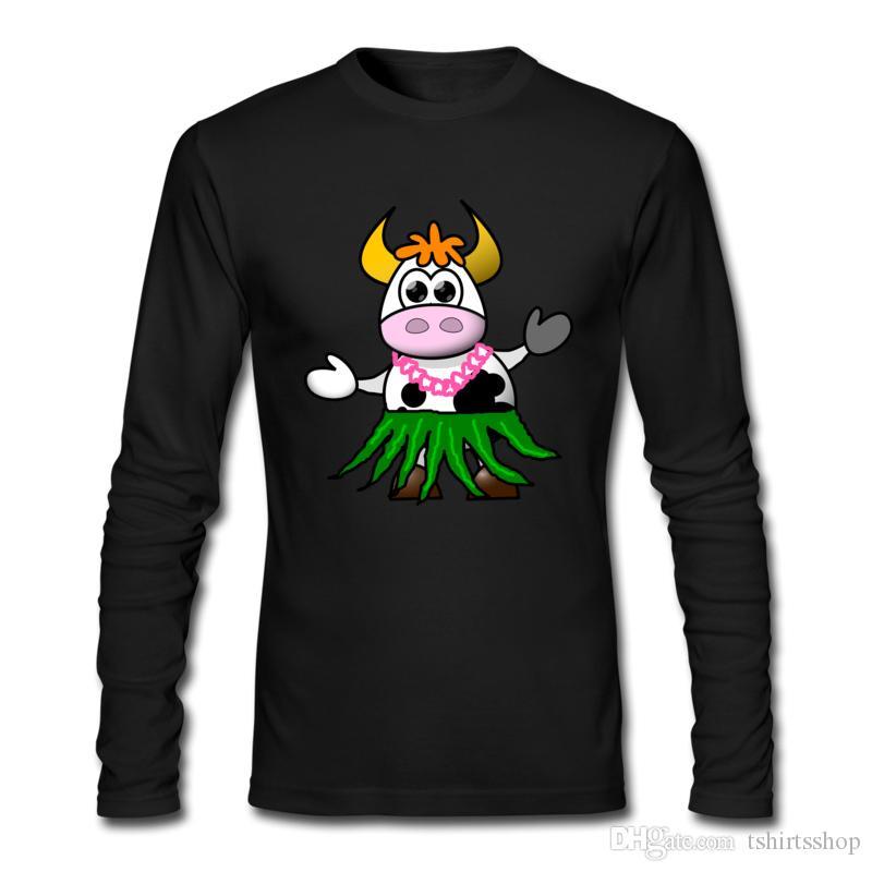 2017 Top Quality T-shirts Especial Dazzling Cow Vestindo Saia Impresso T-shirt Casual Homem Vestido T Shirts